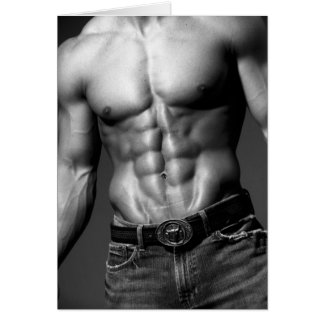 Male Abs Notecard #9 Greeting Card