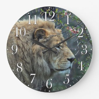 Big Cat Wall Clock A Neat Touch To An African Themed Room