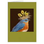 Male and female bluebirds card