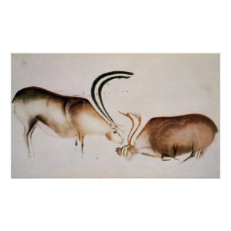 Male and female deer poster
