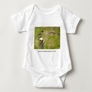 Male and Female  Eastern Phoebes Baby Bodysuit