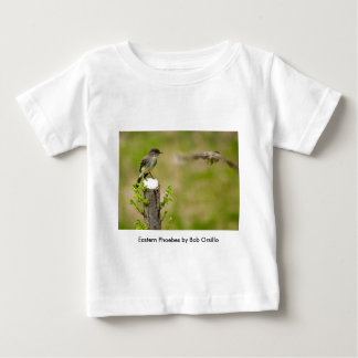 Male and Female  Eastern Phoebes Baby T-Shirt