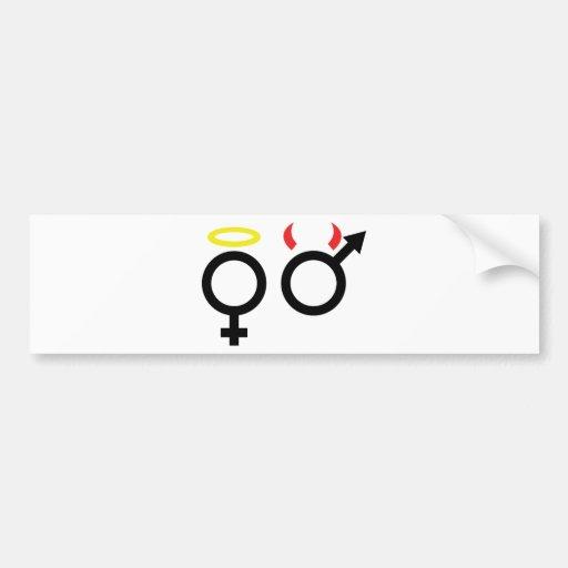 male and female icon bumper stickers
