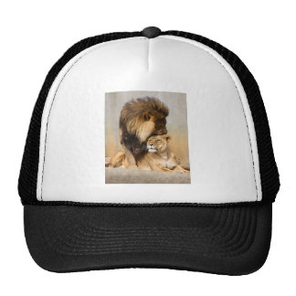 Male and Female Lion in Love Trucker Hat