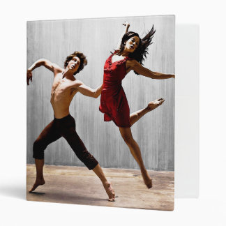 Male and Female Modern Dancers in Red Dress Binder