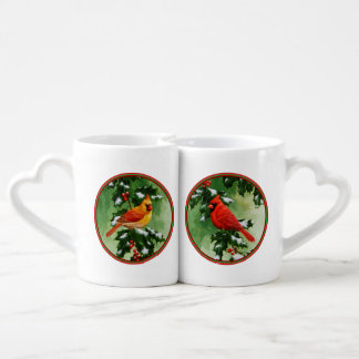 Male and Female Northern Cardinals Couples Coffee Mug