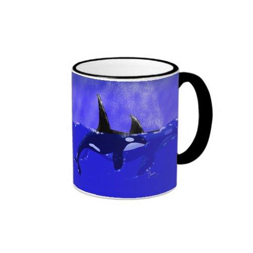 Male and Female Orca Pair in Ocean Mug