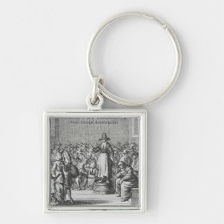 Male and Female Quakers at their Assembly Keychain