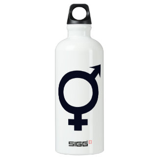 Male and Female Symbol Aluminum Water Bottle