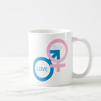 Male and female symbols coffee mug
