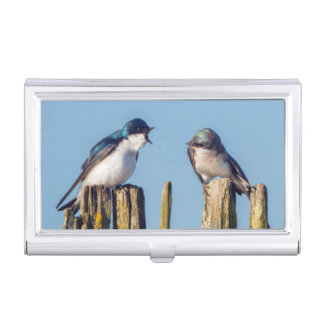 Male and female Tree Swallow Business Card Case