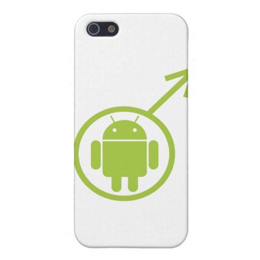 Male Android (Sign / Symbol) Bugdroid Covers For iPhone 5