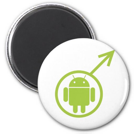 Male Android (Sign / Symbol) Bugdroid Magnet