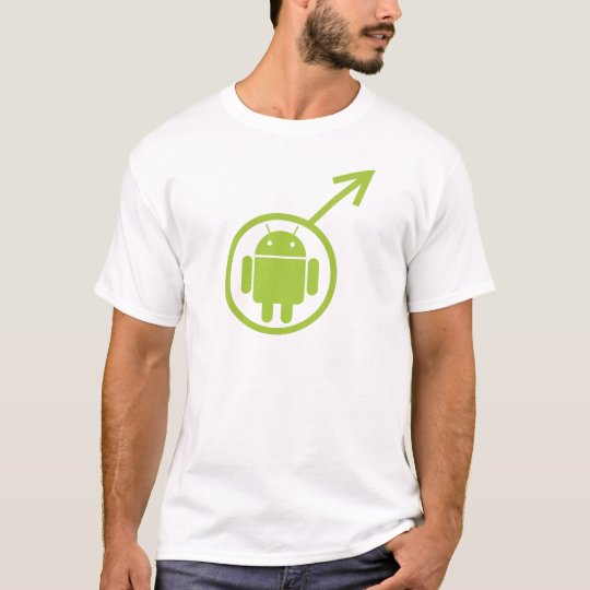 Male Android (Sign / Symbol) Bugdroid T-Shirt