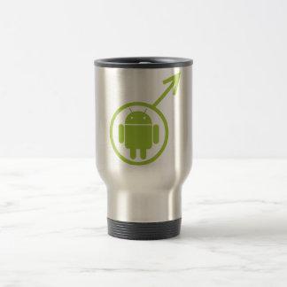 Male Android (Sign / Symbol) Bugdroid Travel Mug