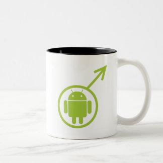 Male Android (Sign / Symbol) Bugdroid Two-Tone Coffee Mug