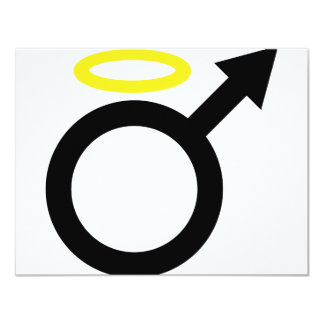 male angel icon card