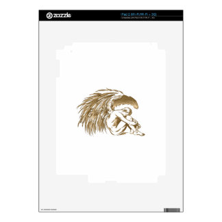 MALE ANGEL DECAL FOR THE iPad 2