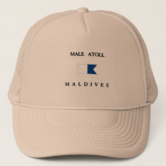 Male Atoll Maldives Alpha Dive Flag Trucker Hat