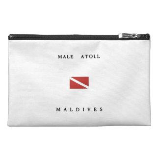 Male Atoll Maldives Scuba Dive Flag Travel Accessory Bag