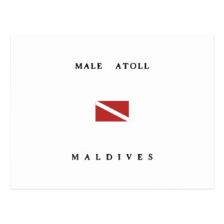 Male Atoll Maldives Scuba Dive Flag Postcard