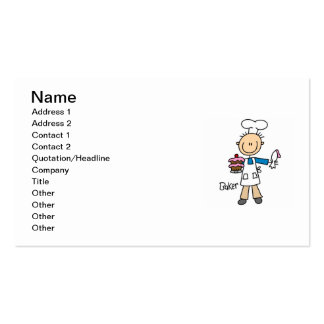 Male Baker Double-Sided Standard Business Cards (Pack Of 100)