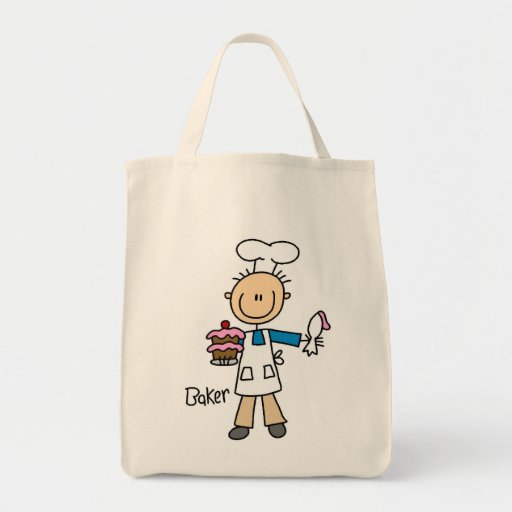 Male Baker Grocery Tote Bag