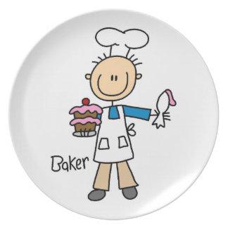 Male Baker Dinner Plate