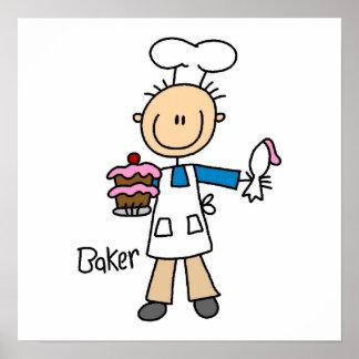 Male Baker Poster