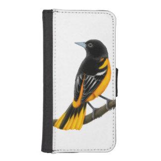Male Baltimore Oriole Bird iPhone Wallet Case Phone Wallet Case
