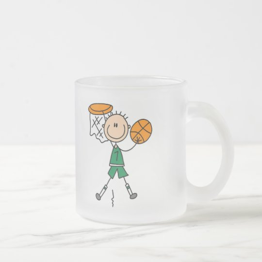 Male Basketball Player Tshirts and Gifts Frosted Glass Coffee Mug