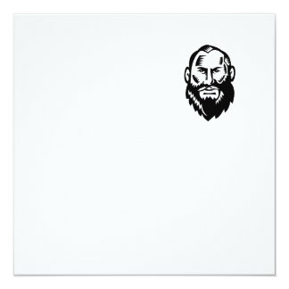 Male Big Beard Woodcut Card