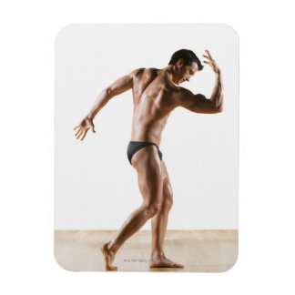 Male body builder flexing and posing 2 flexible magnets