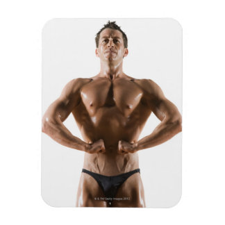 Male body builder flexing and posing magnets