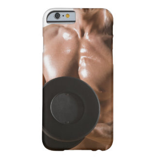 Male body builder flexing lifting weight barely there iPhone 6 case