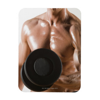 Male body builder flexing lifting weight vinyl magnets