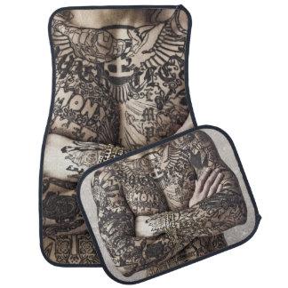 Male Body Tattoo Photograph Car Floor Mat