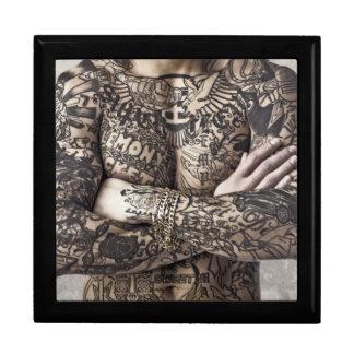 Male Body Tattoo Photograph Jewelry Box