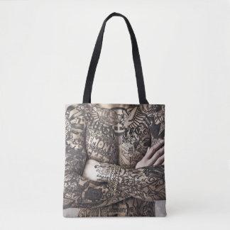 Male Body Tattoo Photograph Tote Bag