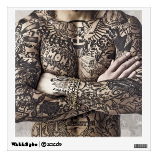 Male Body Tattoo Photograph Wall Decal
