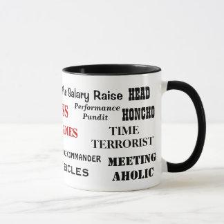 Male Boss Nicknames Funny Insults and Job Titles Mug