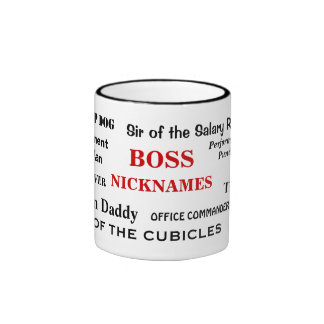 Male Boss Nicknames Funny Insults and Job Titles Ringer Mug