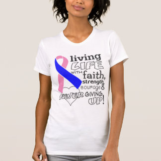Male Breast Cance Living Life With Faith Shirt