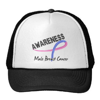 Male Breast Cancer Awareness 3 Hat