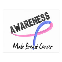 Male Breast Cancer Awareness 3 Postcard