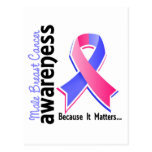 Male Breast Cancer Awareness 5 Postcard