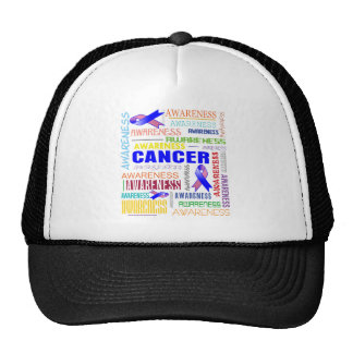 Male Breast Cancer Awareness Collage Hats