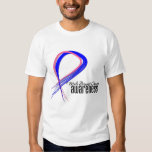 Male Breast Cancer Awareness Grunge Ribbon Shirt