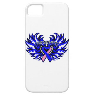 Male Breast Cancer Awareness Heart Wings iPhone 5 Cover