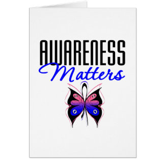 Male Breast Cancer Awareness Matters Greeting Card